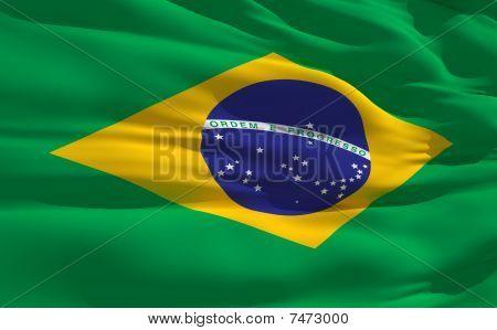 Waving Flag Of Brazil