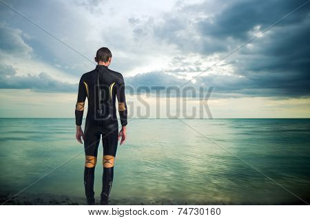 The Person In A Diving Suit