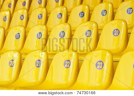 Yellow Stadium Seating Chairs