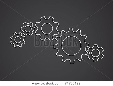 gears teamwork concept - abstract background