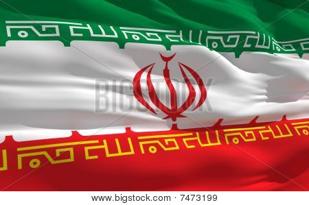 Waving Flag Of Iran