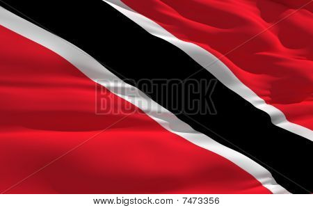 Waving Flag Of Trinidad And Tobago