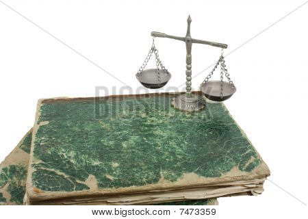 Weighing Scales And Books