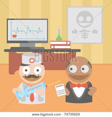 Medicine doctor syringe vaccine