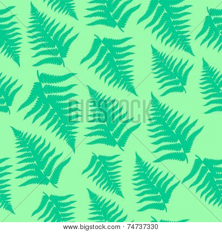 Fern leaves seamless pattern