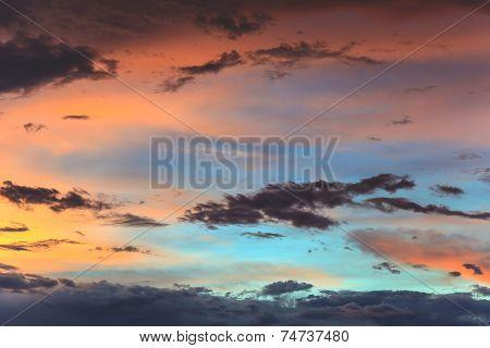 vivid sunset sky