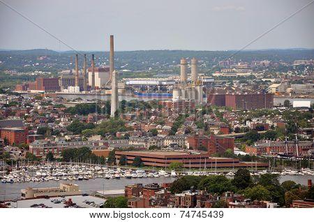 Bunker Hill Monument in Charlestown, Massachusetts