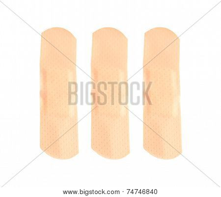 Plaster Bandage Isolated On White Background