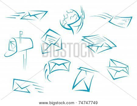 Envelope and mail symbols