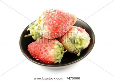 Frozen Strawberries In A Bowl