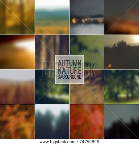 Set Of Blurred Backgrounds Landscape
