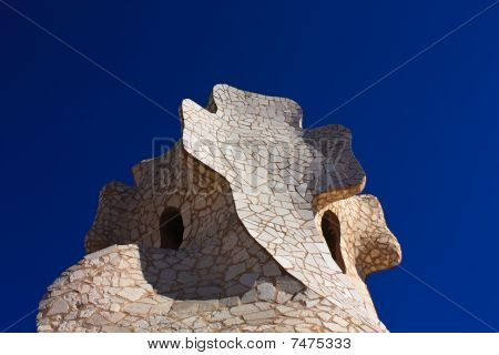 Detail Of La Perdrera Or Casa Mila , Gaudi­
