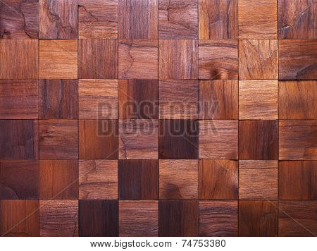 Mosaic of wood pieces background