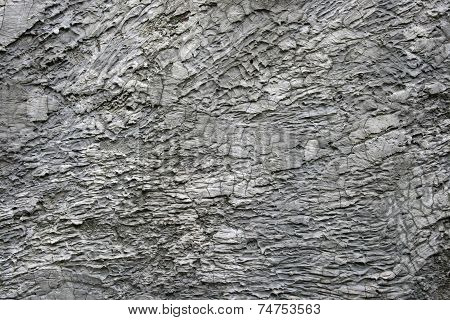 Rugged White Cement And Concrete Wall