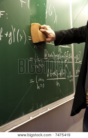 Erasing A Blackboard