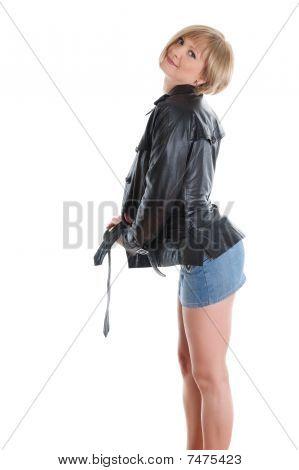 Chica en una Mini falda