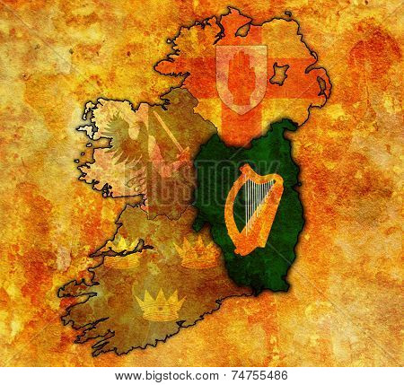 Leinster On Map Of Ireland
