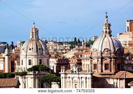 Rome Churches And Trajans Column