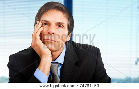 Bored businessman portrait