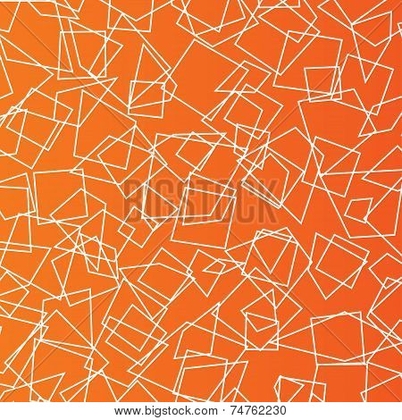 Orange Geometric objects background