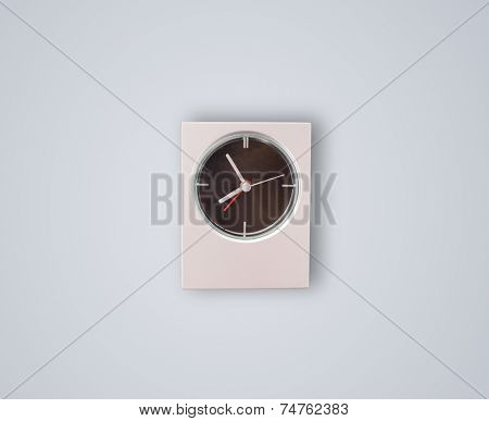 Modern clock showing precise time, hours and minutes