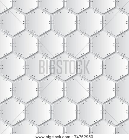 Stapled Papers Seamless Pattern