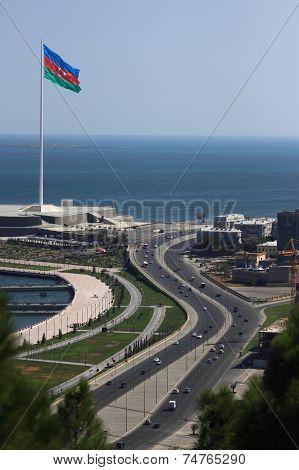The shore of Baku