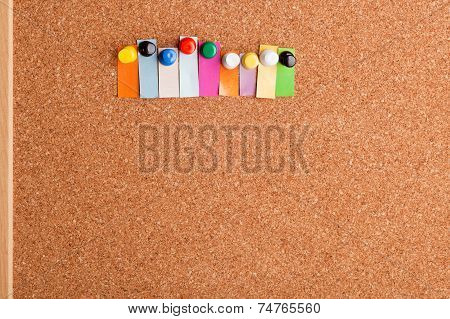 Cork Board And Colorful Heading For Nine Letter Word