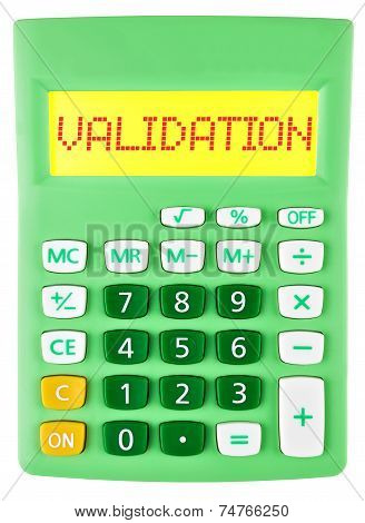 Calculator With Validation On Display On White