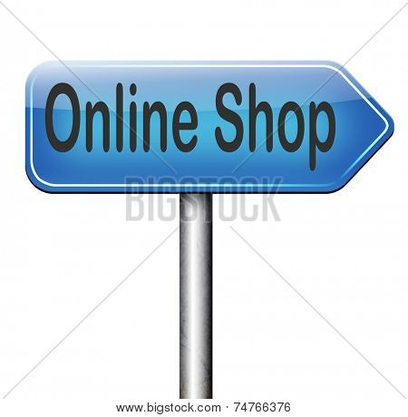 online internet web shop road sign webshop icon