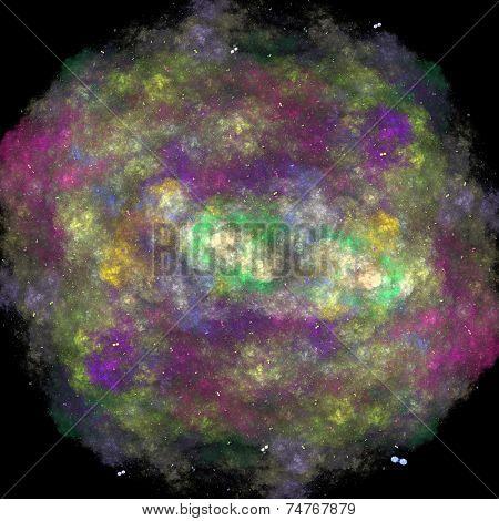 3d render illustration of colorful bacteria
