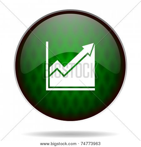 histogram green internet icon
