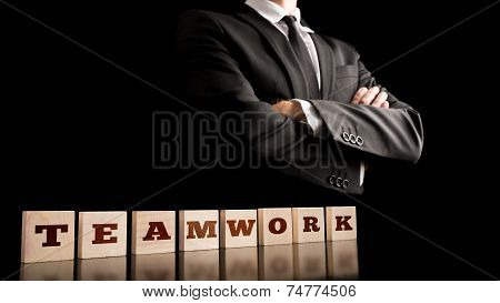 Simple Business Teamwork Concept