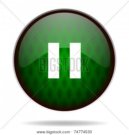 pause green internet icon