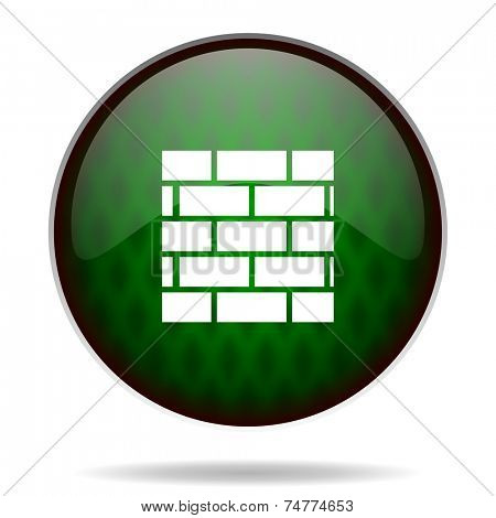 firewall green internet icon