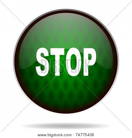 stop green internet icon