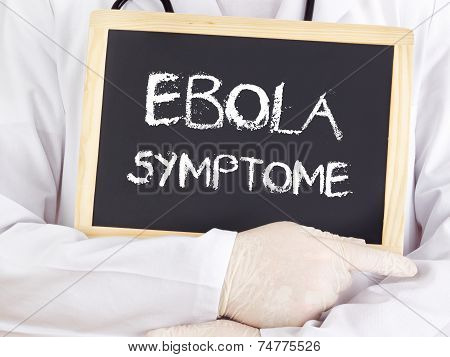 Doctor Shows Information: Ebola Symptoms In German