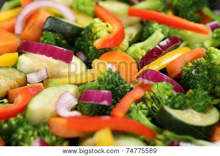 Preparing And Cooking Food Vegetables Background