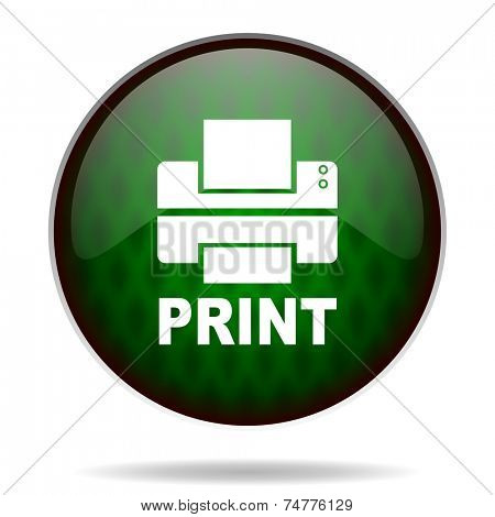 printer green internet icon