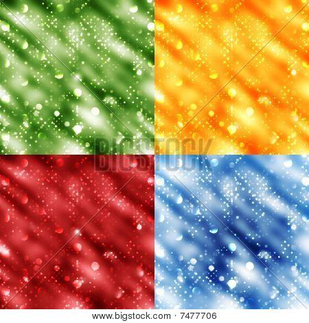 set of 4 bokeh background vectors