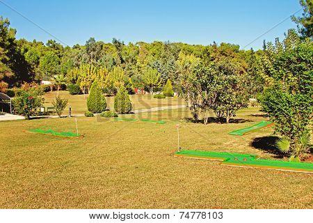 Mini Golf Park In Sport Resort