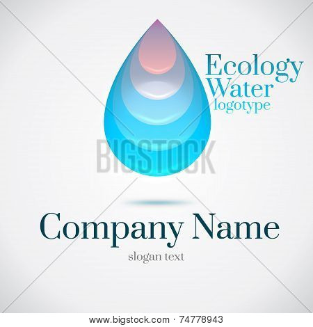 Drop Water Ecology Logo