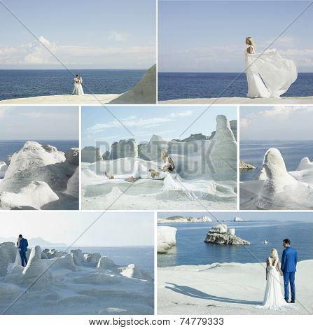 Collage Of Wedding Couple