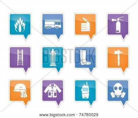 fire-brigade and fireman equipment icon