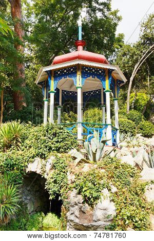Pavilion On Stones In Nikitsky Botanical Garden