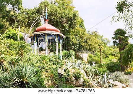 Wooden Pavilion In Nikitsky Botanical Garden