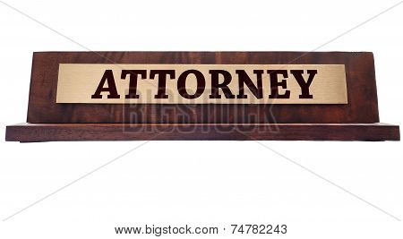 Attorney Name Plate