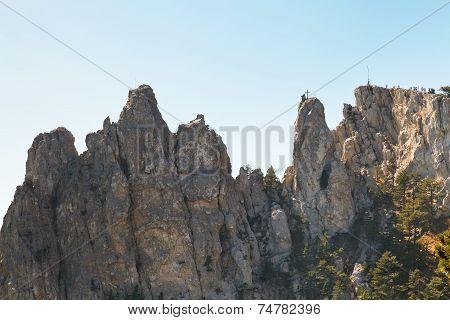 Ai-petri Peaks In Crimean Mountains