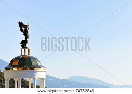 St. Michael The Archangel Statue On Belvedere