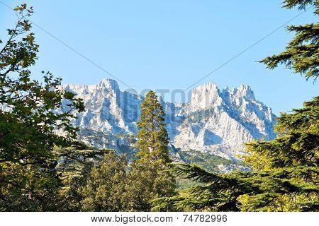 View Of Ai-petri Mountain From Alupka, Crimea